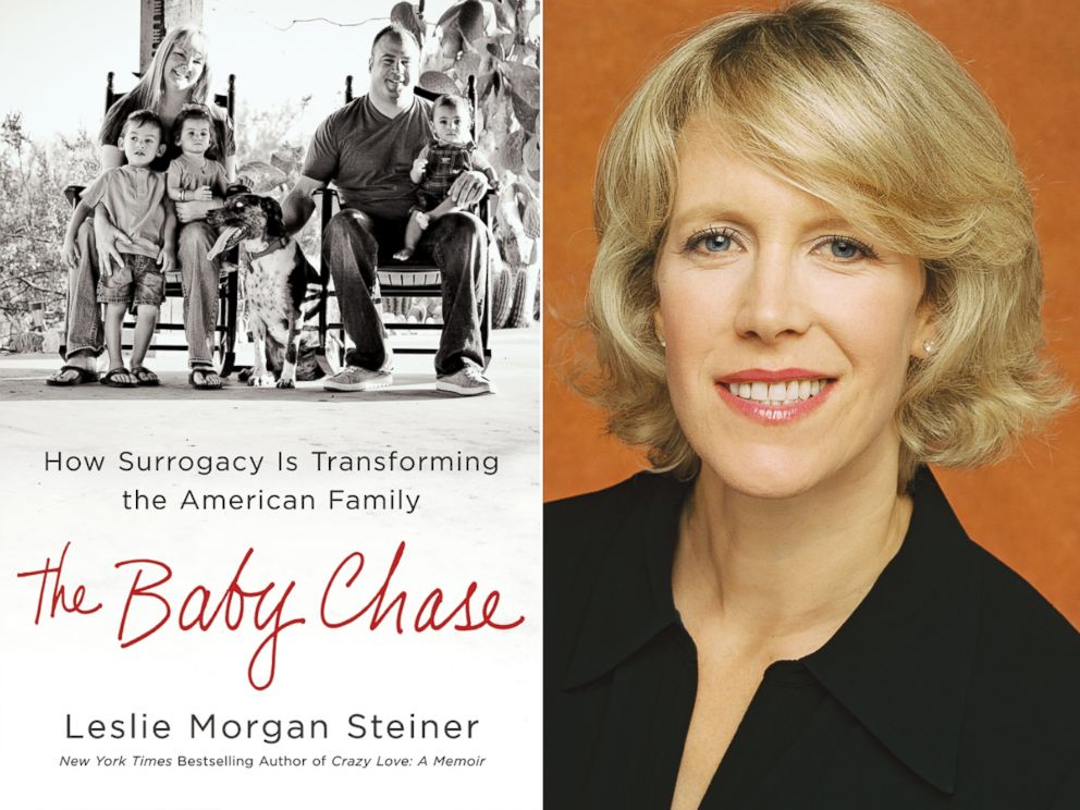 PHOTO: Leslie Morgan Steiner and her book, The Baby Chase.