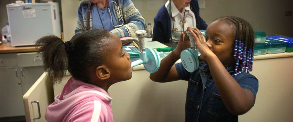 PHOTO: Children undergo lung function evaluations to kick of the school year at Morgridge Academy, a school for chronically ill children, most of whom have severe asthma.