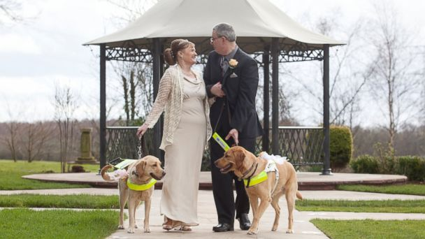 HT claire mark puppy love tk 140327 16x9 608 Blind Couple Weds Thanks to Doggone Introduction