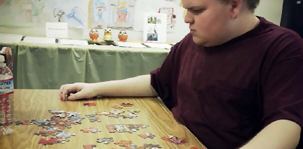 PHOTO: David Swanson is autistic and diabetic. He cant speak, but he can communicate with an iPad.