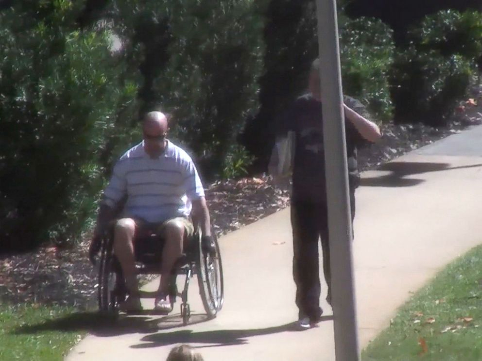 PHOTO: Dennis Paulsen was seen on surveillance videos arriving at the VA for a checkup in his wheelchair.