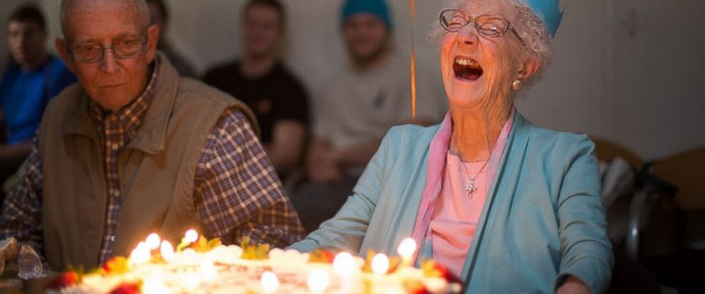 PHOTO: Edythe Kirchmaier blows out the candles on her birthday cake in 2014.