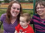 PHOTO: Erin OKeefe with her son Shaun and mother Josephine Jennings.