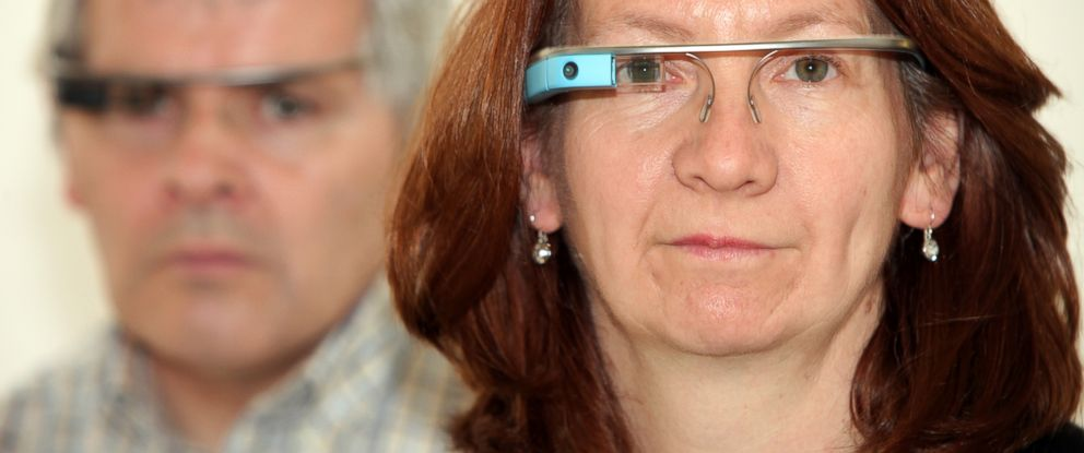 PHOTO: Lynn Tearse and Ken Booth found Google glass helped her be mobile.