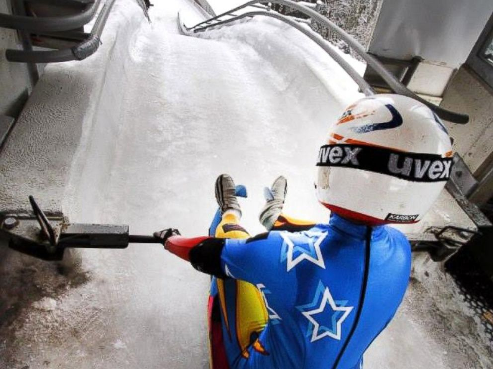 PHOTO: Hannah Miller is training for the 2018 Olympic luge team.