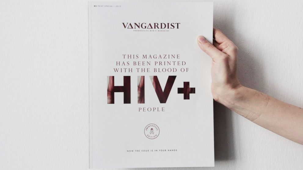 PHOTO: To draw attention to HIV and AIDS, a German magazine was published with blood donated by people with HIV.