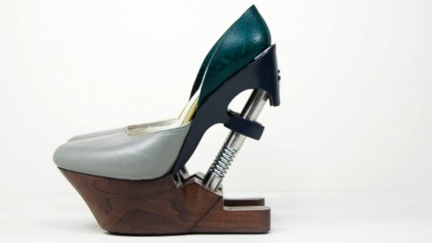 HT hydraulic heels 02 jef 140604 16x9 608 U.K. Designer Adds Kick With Hydraulic Heels