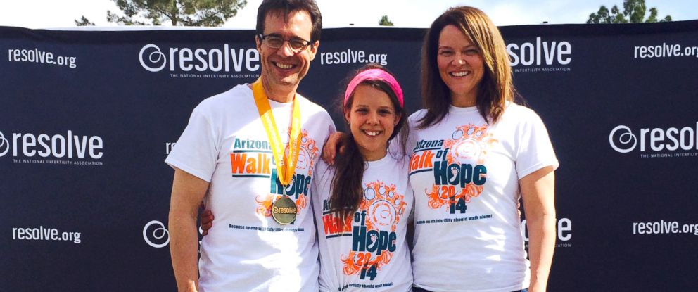 PHOTO: Denny Ceizyk with his wife, Lisa, and daughter, Elliana, at the Resolve Walk of Hope.