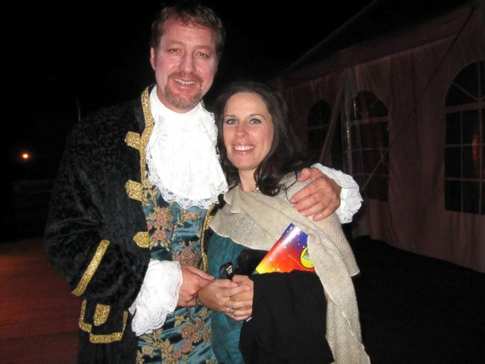 PHOTO: Eric Jordan poses with his wife after an opera performance.