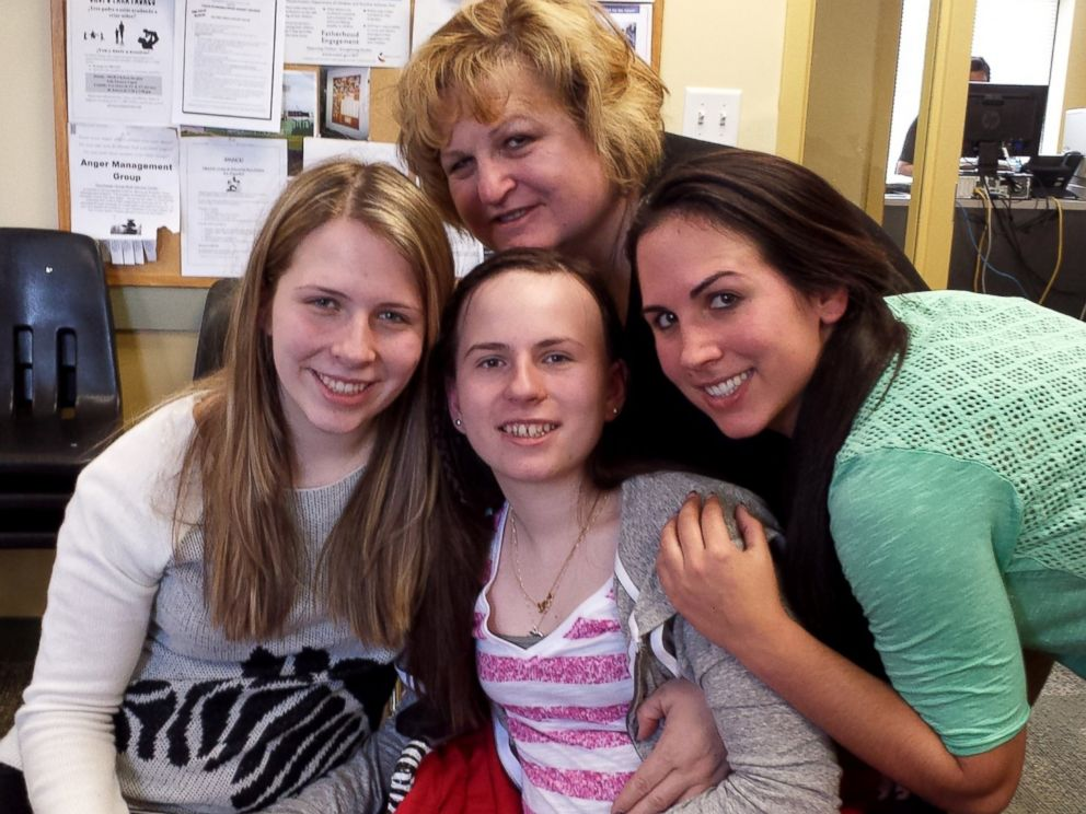 PHOTO: Justina Pelletier with her sisters and mother during a recent visit.