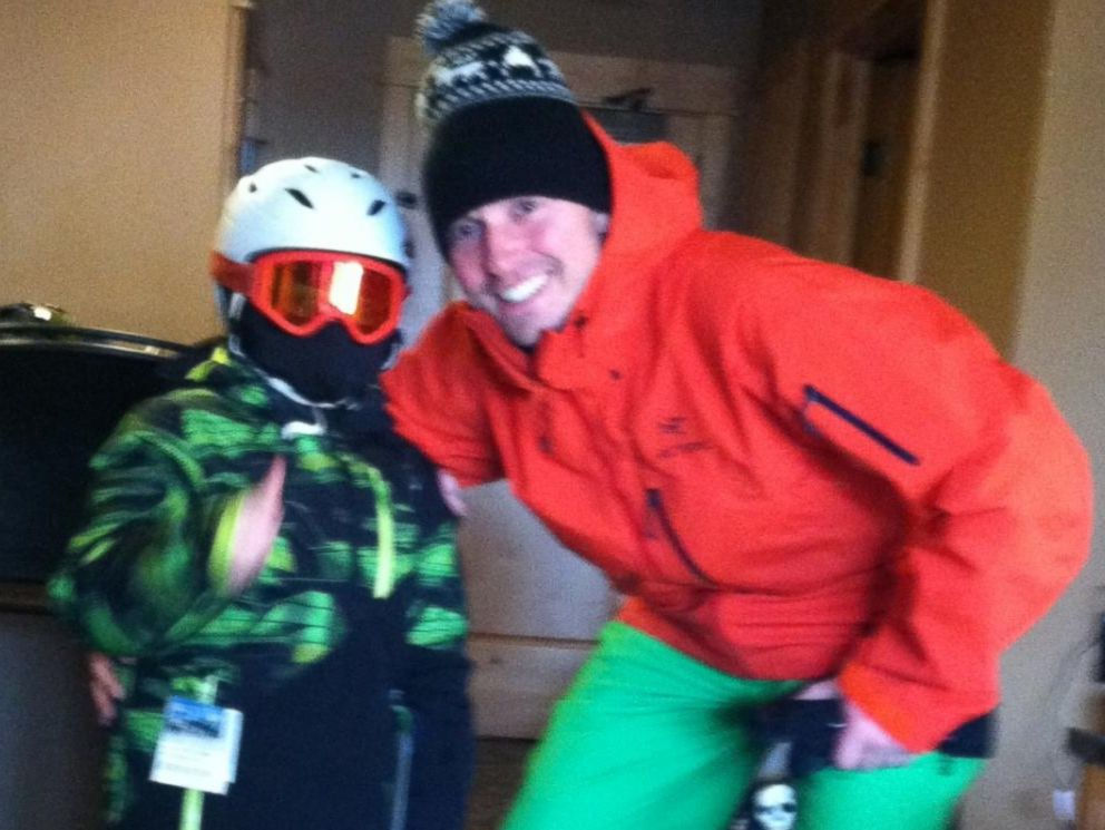 PHOTO: Five months after surgery, Haiden and his family went on a skiing vacation.