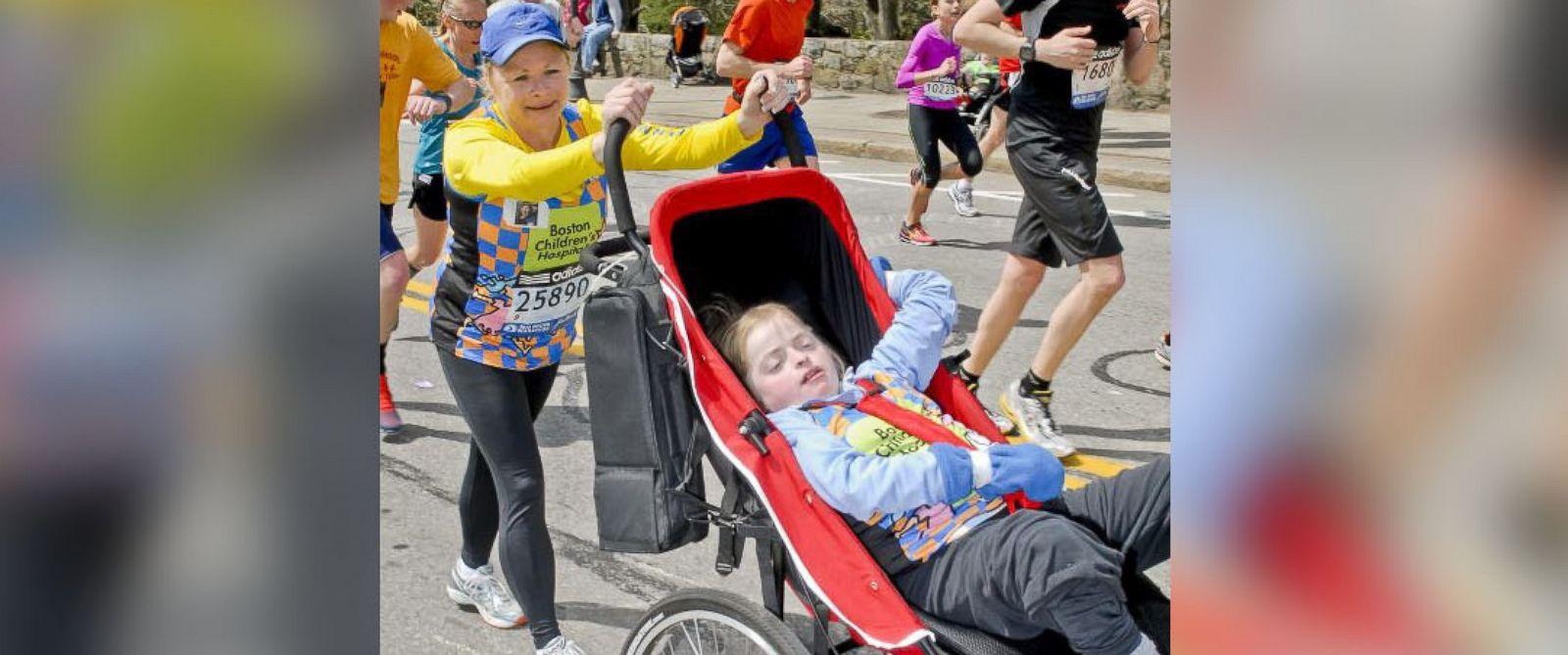 PHOTO: Kristine and Kayla Biagiotti were on their first Boston Marathon together last year.