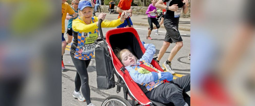 PHOTO: Kristine and Kayla Biagiotti were on their first Boston Marathon together last year.