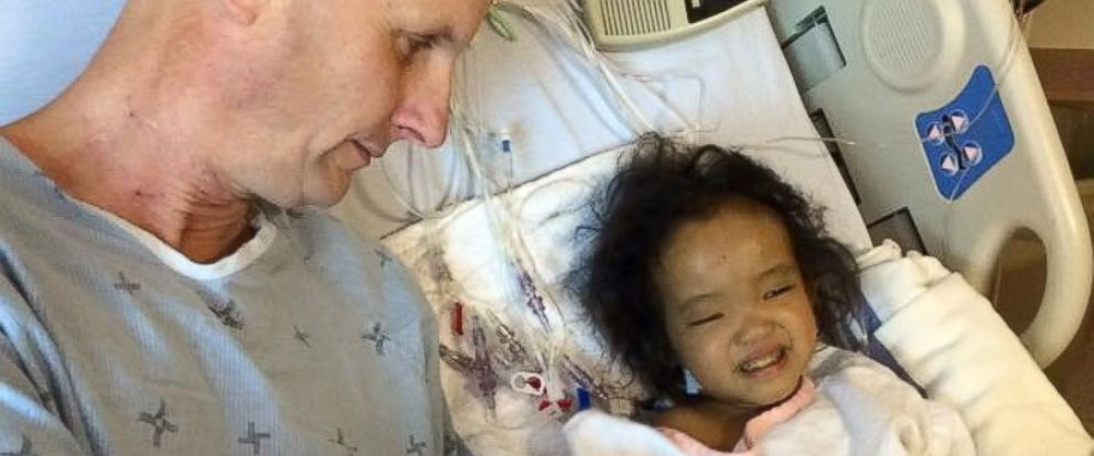 PHOTO: Michael Wagner greeted his daughter Phuoc days after he donated part of his liver