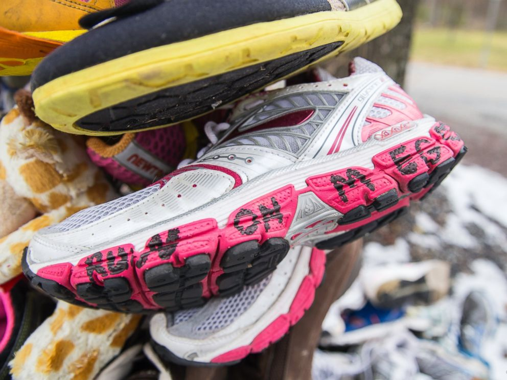 PHOTO: Some shoes contained messages for Meg Cross Menzies. They will all be refurbished and donated