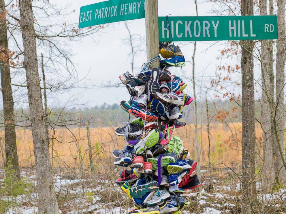 PHOTO: People began to donate their running shoes in honor of Meg Cross Menzies
