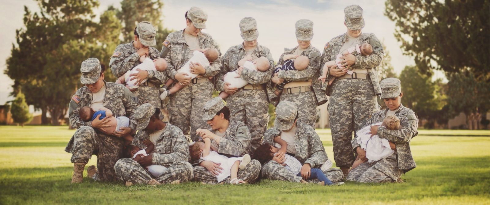 PHOTO: This picture of breastfeeding military moms quickly went viral after photographer Tara Ruby posted it on Facebook.