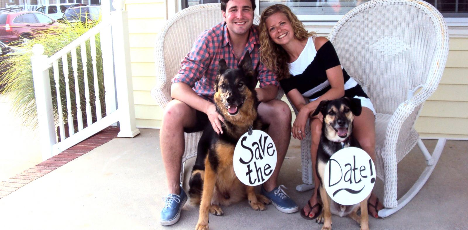 PHOTO: Jeff and Jodi Gillman and their dog Reuben, who has Hemangiosarcoma.