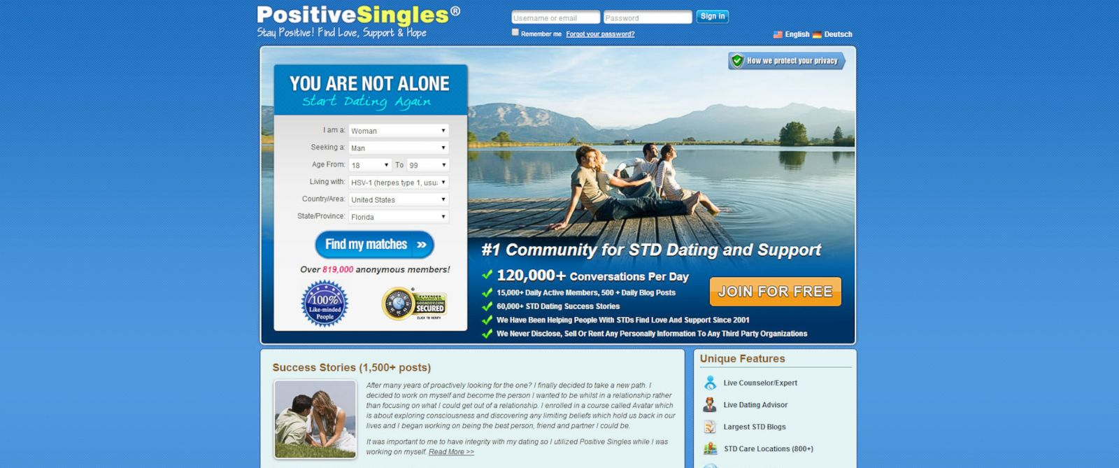 Dating sites for std