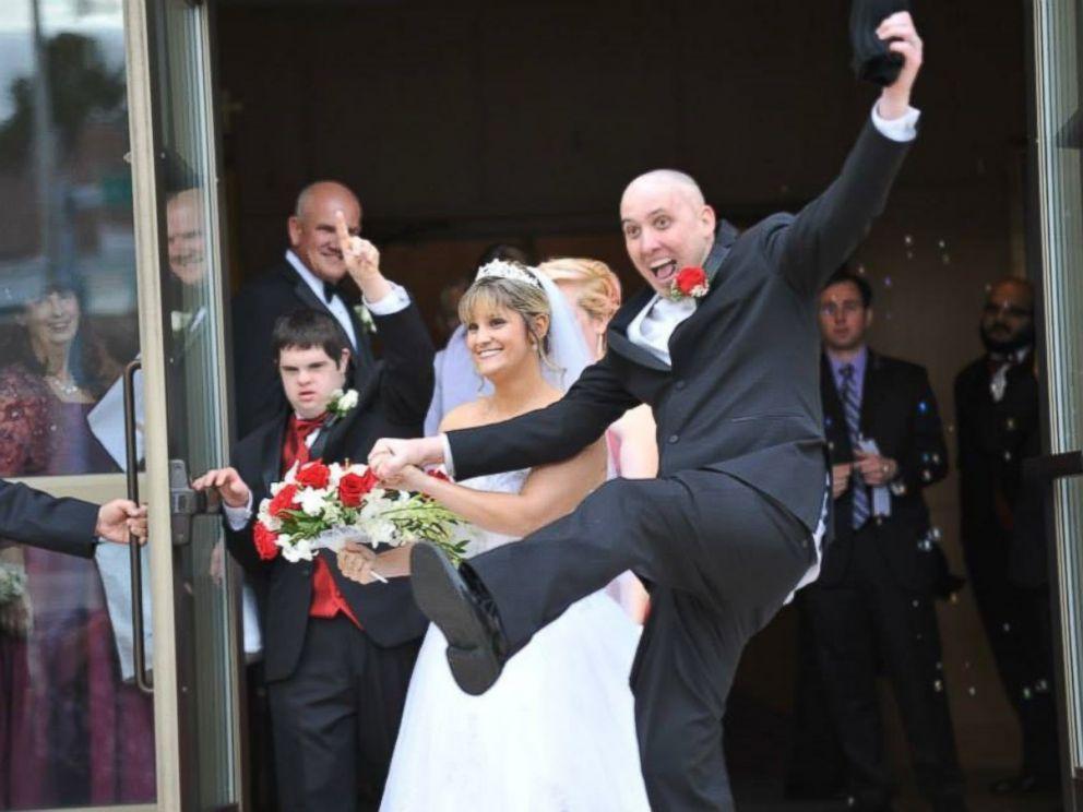 PHOTO: Randy Schmitz celebrates his wedding day.