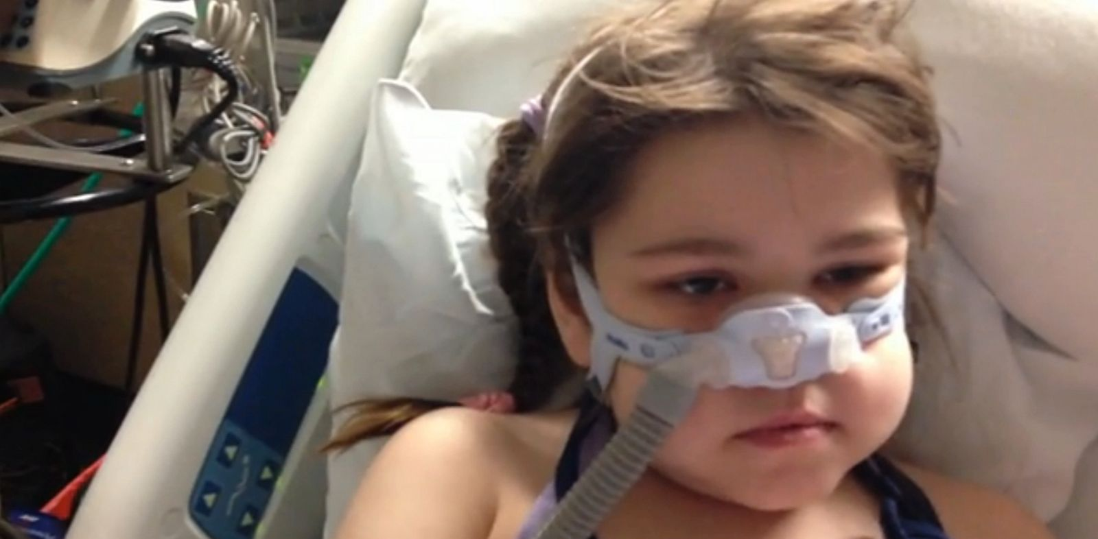PHOTO: Sarah Murnaghan is shown at Childrens Hospital of Philadelphia in this still from video.