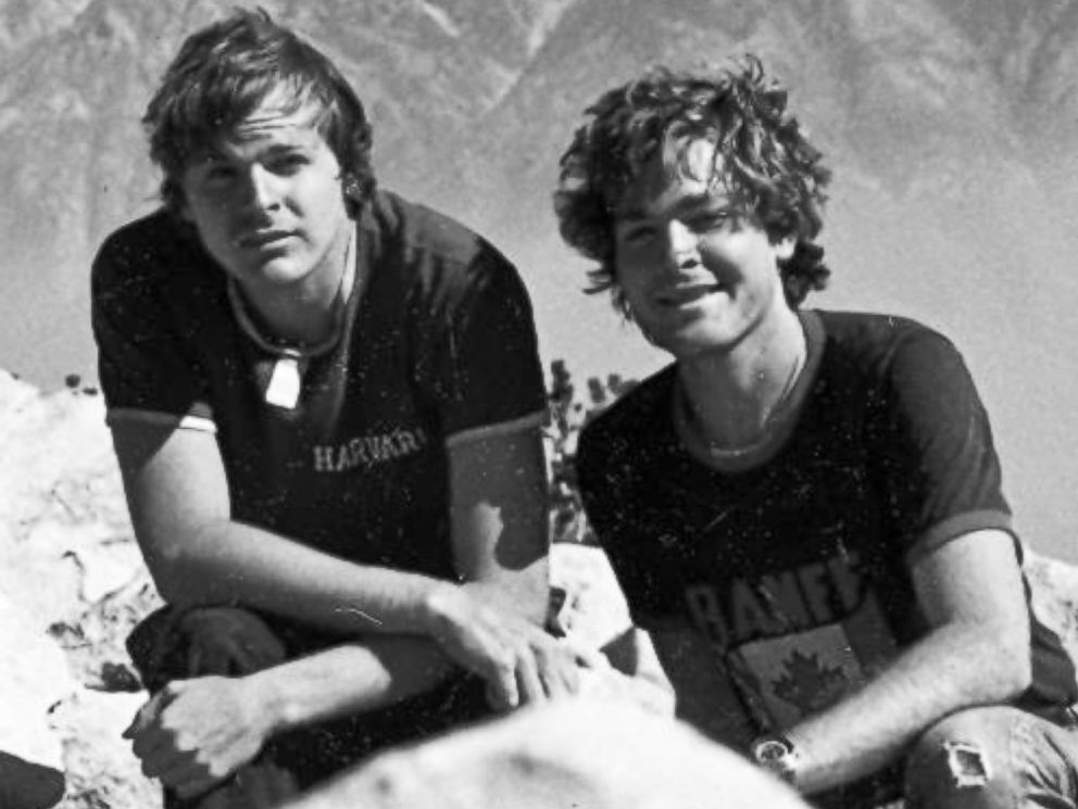 PHOTO: Steve Johnson and his brother Scott in 1982 in southern California.