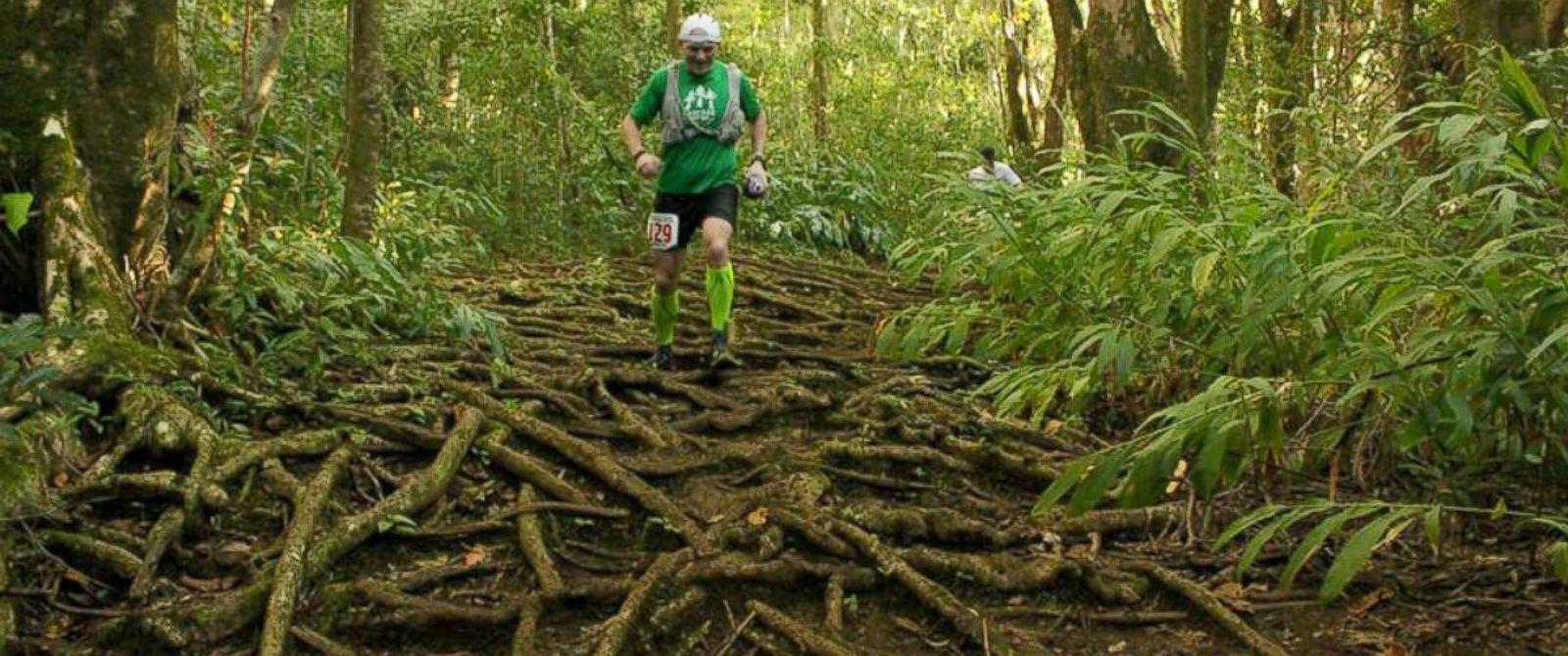 PHOTO: Gavin Woody runs the HURT 100 miler in Oahu, Hawaii last week