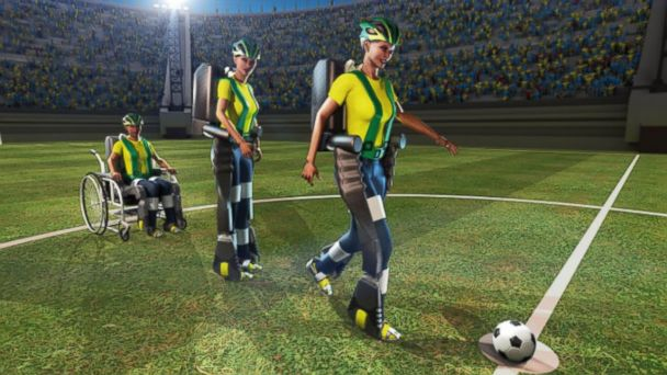 HT walk again project tk 140106 16x9 608 Brain Controlled Kick to Open This Years World Cup Soccer