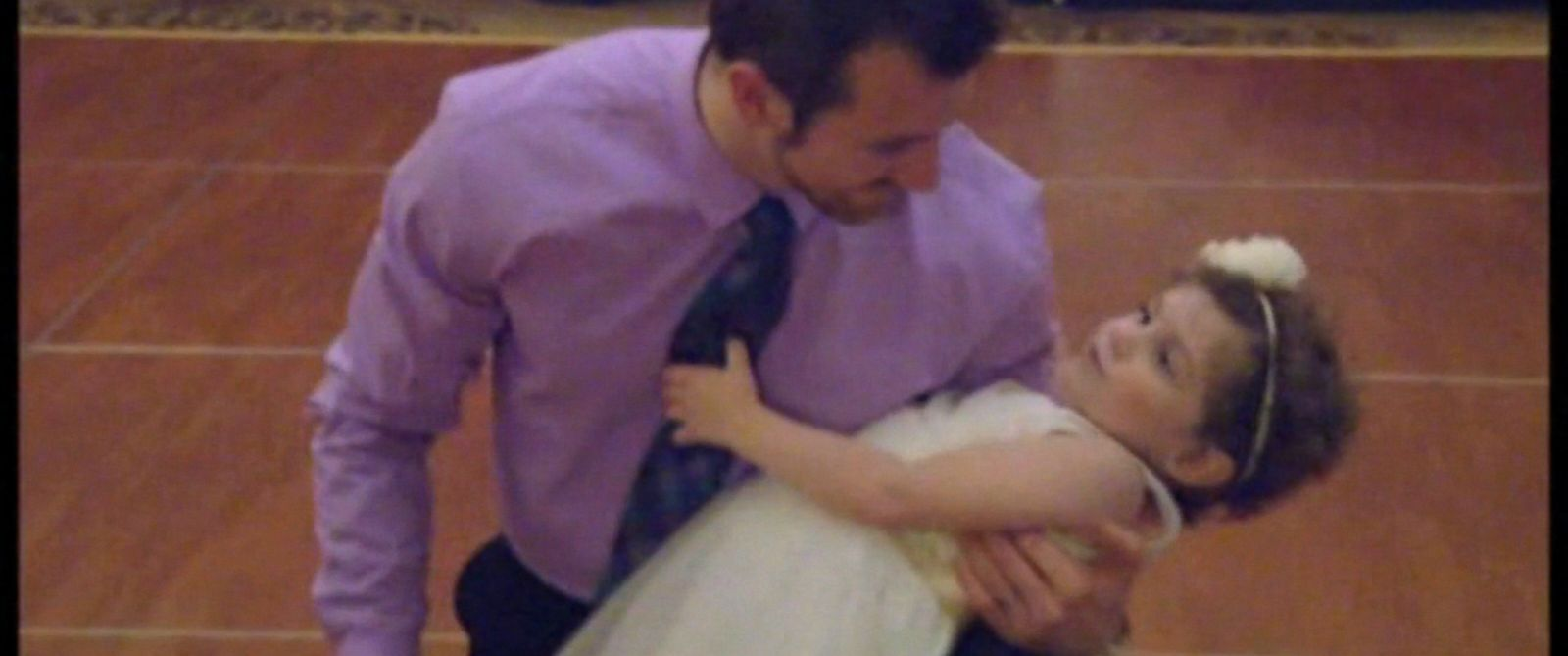 "PHOTO: Abby Sayles, a 4-year-old girl who ""married"" her favorite nurse Matt Hickling, got to have her own ""wedding reception."""