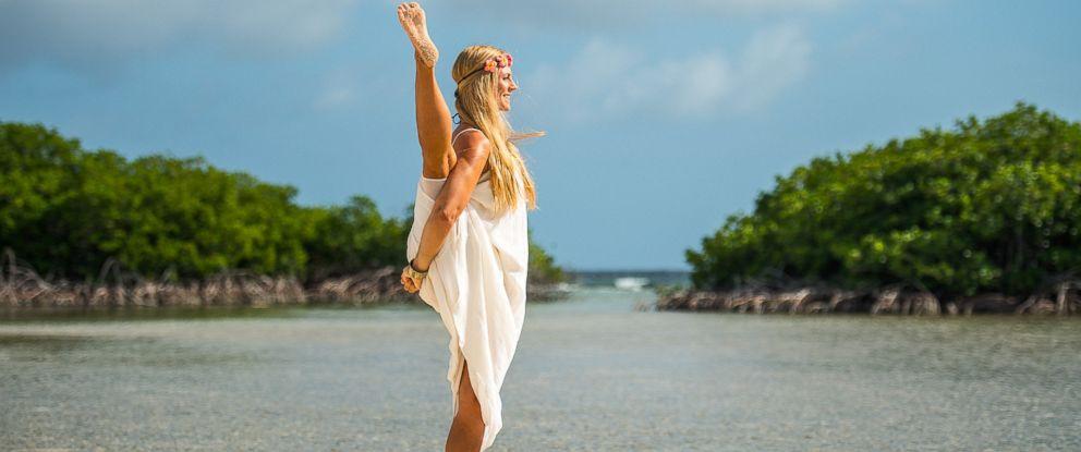 PHOTO: Rachel Brathen, 26-years-old, is a yoga instructor in Aruba.