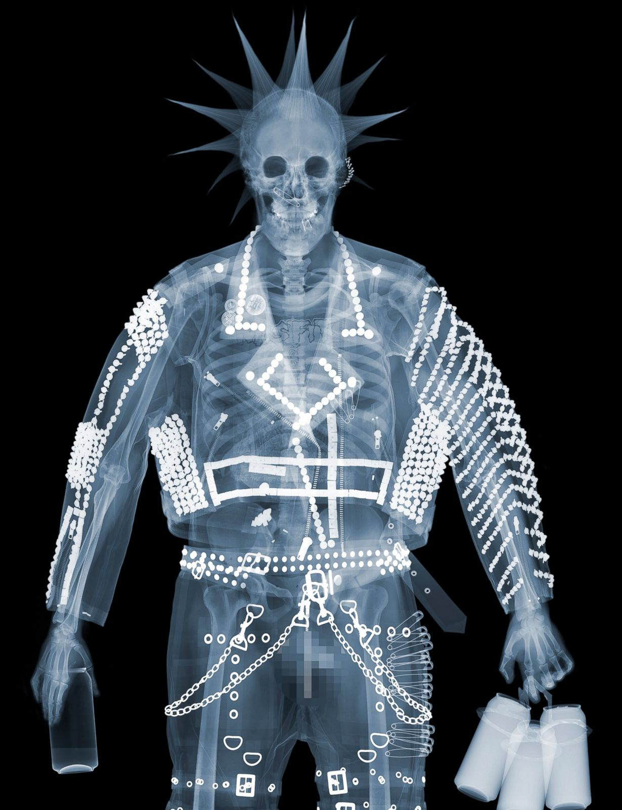 Punk picture nick veasey 39 s 39 x ray art 39 abc news for X ray painting