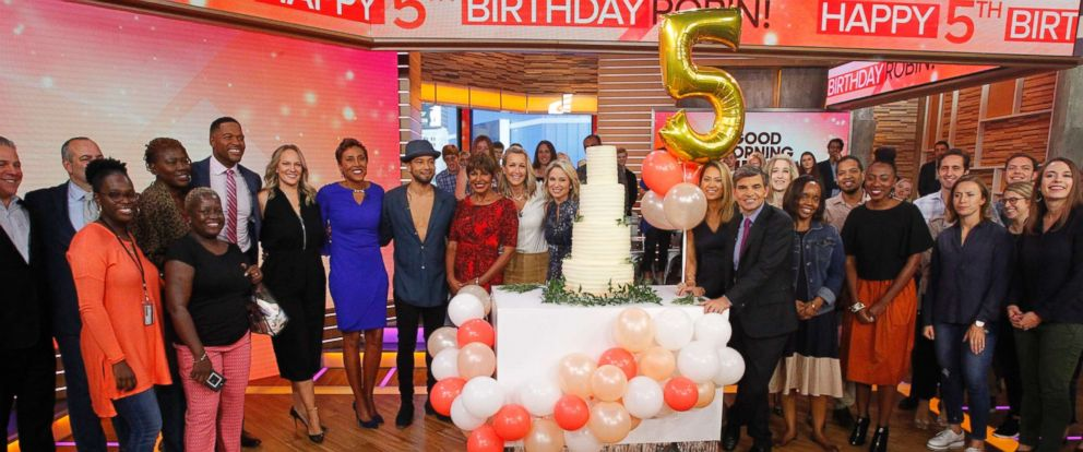 """PHOTO: """"GMA"""" co-anchor Robin Roberts is celebrating her fifth """"birthday,"""" the anniversary of the day she received a life-saving bone marrow transplant."""