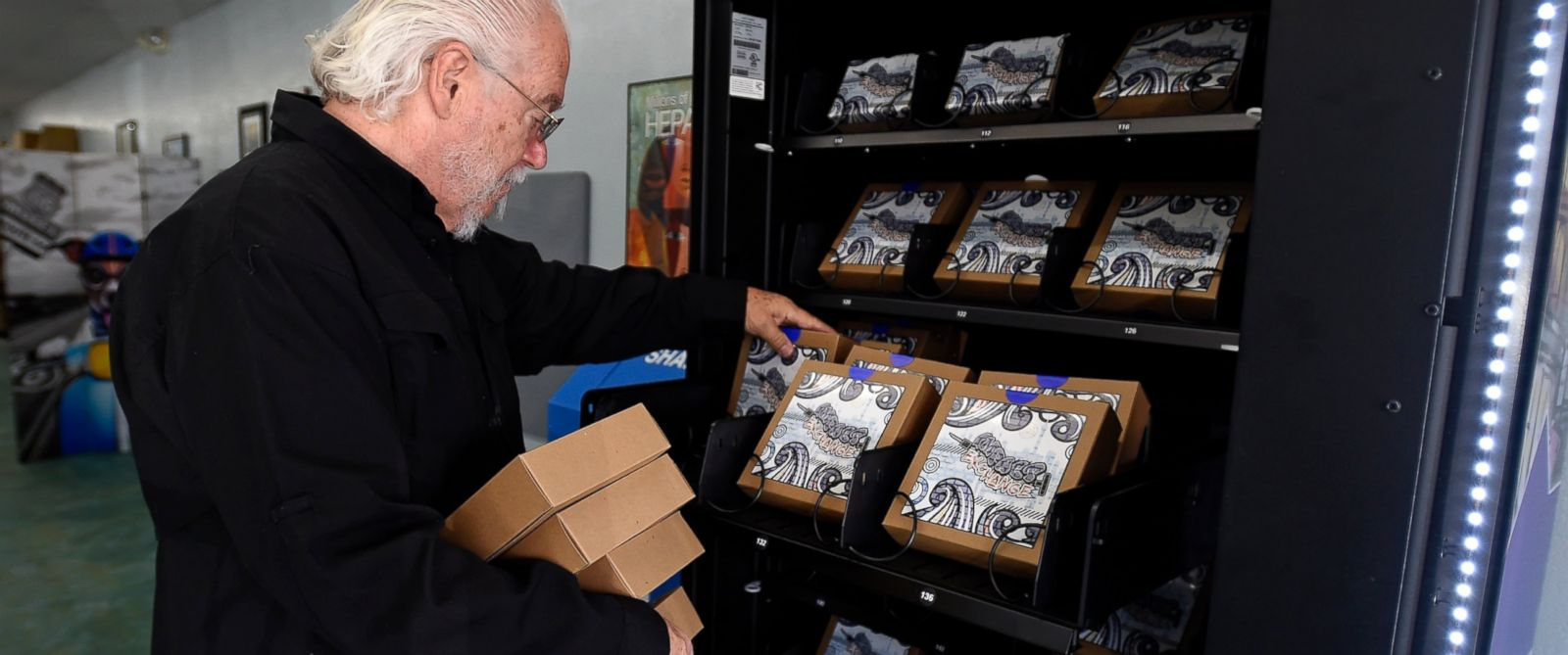 PHOTO: Program director Rick Reich loads needle replacement kits that are now available from a vending machine. The vending machine is a first-in-the-nation experiment to automate the dispensing of clean needles for intravenous drug users.