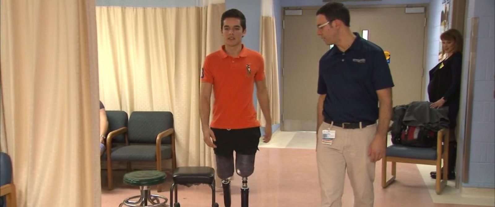 PHOTO: Vidal Lopez, 19, lost both his legs above the knee after a car accident in Mexico in the summer of 2016. On Feb. 6, 2017, he was able to walk again with the help of two microprocessor controlled knees donated by the foundation of Heather Abbott.