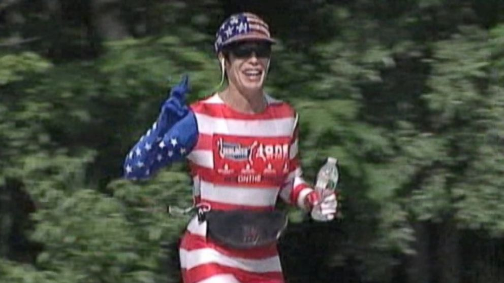 PHOTO: Helene Neville, 53, just completed the third leg of her 10,000-mile quest.