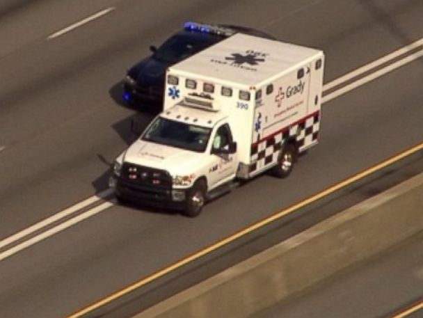 PHOTO: An American Ebola patient has landed in Atlanta to receive treatment at Emory University Hospitals isolation unit.
