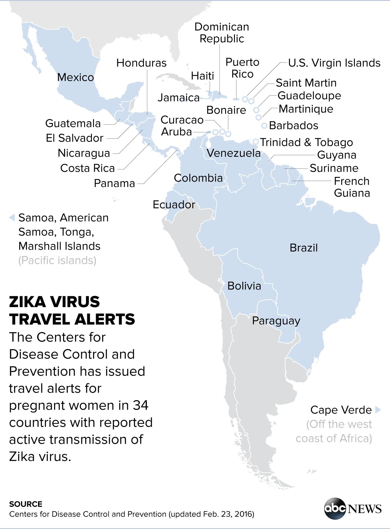 CDC Investigating Reports Of Sexually Transmitted Zika Virus In - Zika virus map us