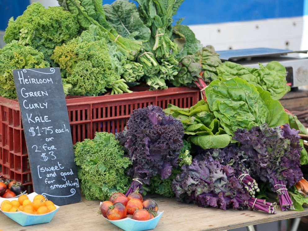 PHOTO: An assortment of vegetables and fruits are sold at the Santa Monica Farmers Market in Los Angeles, June 14, 2017.