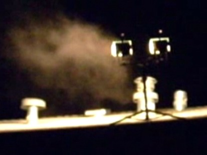 VIDEO: Carbon monoxide gets sucked back into David Conrads house.