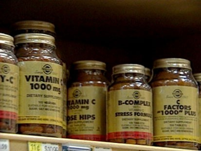 A picture of jars of vitamins.