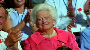 VIDEO: Barbara Bush leaves a Texas hospital after relapse of Graves disease.