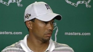 Video: Tiger Woods address the media before the Masters.