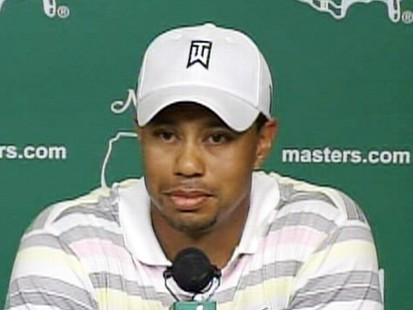 Video: Tiger Woods holds first press for the Masters.