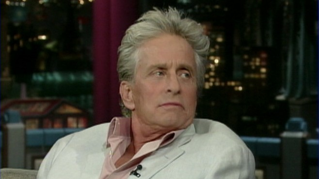 VIDEO: Actor Michael Douglas reveals to David Letterman that he's battling ...