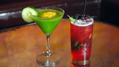 PHOTO: Beauty And Essex's Emerald Gimlet, and their Ruby Mojito are seen here.