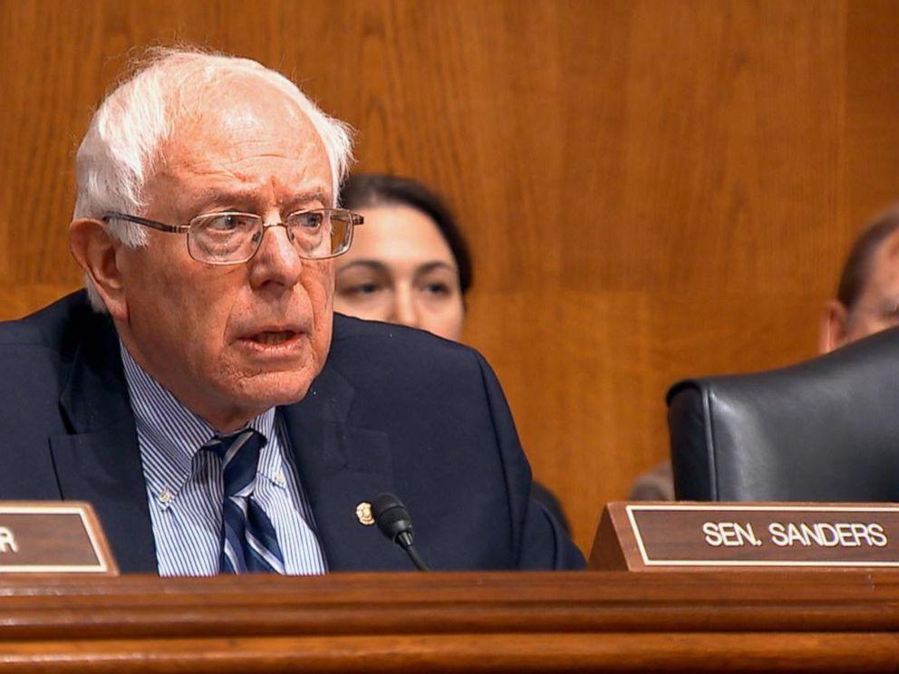 PHOTO: Senator Bernie Sanders held a senate hearing to look into rising generic drug prices.