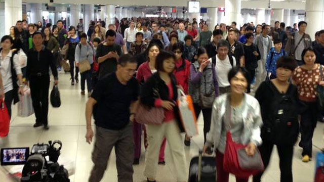 PHOTO: About 500,000 people cross the border between Mainland China and Hong Kong every day.