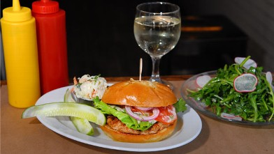 PHOTO: The Herbed Turkey Burger is served at BLT Burger located in the Chelsea section of New York, seen here, June 27, 2012.