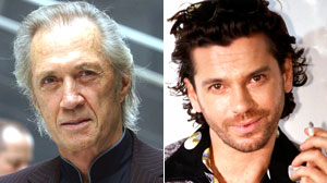 David Carradine and Michael Hutchence