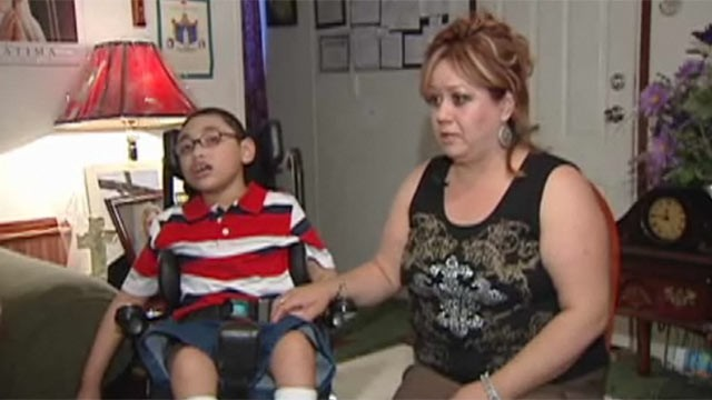 PHOTO:&nbsp;Kevin Castro, a disabled eight year-old boy, was refused his first Holy Communion